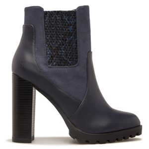 NEW! Fira Block Heel Bootie Navy 9.5